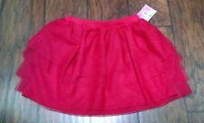 Circo Red Girls Skirt Tutu Tulle Ruffled Size Medium 7-8 Layered Free Shipping