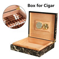 20-25 Cigar Tube Humidor Wood Cedar Lined Storage Case Box Humidifier Hygrometer