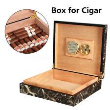 20-25 Cigar Tube Humidor Wood Cedar Lined Storage Case Box Humidifier Hygrometer