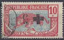 COLONIE MOYEN CONGO N°65a SURCHARGE RENVERSÉE - OBLITÉRATION CAD - COTE 200€