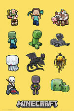 MINECRAFT CHARACTERS POSTER (61x91cm)  PICTURE PRINT NEW ART