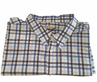 New RM WILLIAMS Mens Size 3XB Collins Long Sleeve Shirt Blue White Check RRP$139
