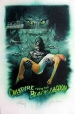 CREATURE FROM THE BLACK LAGOON le GICLEE signed ADAMS-CHAPMAN-DREW wCOA special