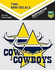 620003 NORTH QUEENSLAND COWBOYS NRL SET OF 2 MINI DECALS CAR STICKERS ITAG