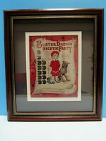 VTG RARE BUSTER BROWN AND TIGE - BOW TIE GAME BOX COVER FRAMED & MATTED EX. COND