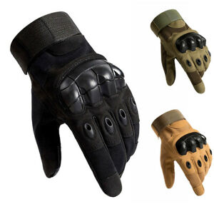 Tactical Gloves Army Military Combat Hunting Shooting Hard Knuckle Full Finger