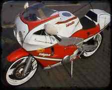 Bimota Yb7 88 A4 Metal Sign Motorbike Vintage Aged