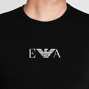 EMPORIO ARMANI T-SHIRT FOR MEN CC715-111267 BLACK SIZE:MEDIUM  STRETCH FITTED