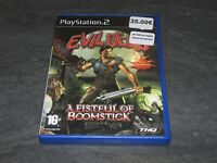 JEU PS2 EVIL DEAD A FISTFUL OF BOOMSTICK COMPLET THQ OCCASION