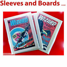 Wizard British Comic Bags and Boards Acid Free Reseal/Tape Size4 TALL A4 x 10