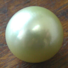 GREEN AUST 17.6mm! SOUTH SEA PEARL 100% UNTREATED COLOUR UNDRILLED+CERTIFICATE