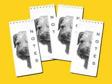 Border Terrier Dog Small Slim Note Pads, pack of 4 Gift Set