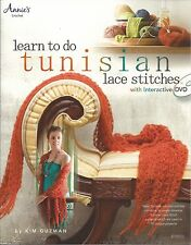 LEARN TO DO TUNISIAN LACE STITCHES W/DVD KIM GUZMAN CROCHET PATTERN BOOK NEW
