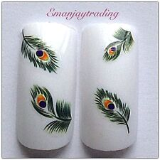 Nail Art Water Decals/Transfers #120  24 Peacock Feathers