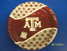 "Texas A&M Aggies NCAA College Football SEC Sports Party 9"" Paper Dinner Plates"