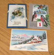 1910 New Years's Eve Postcards Lot of Three Johnstown PA
