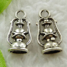 Free Ship 280 pieces tibet silver hurricane lamp charms 20x10mm #1607