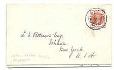 Gb Philatelic Advertising Cover - 1893, London to New York - Letter*