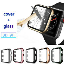 3D 9H Tempered Glass Cover For Apple Watch Series 5 4 3 2 Screen Protector Case