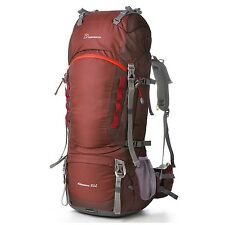 Mountaintop 80L Water-resistant Internal Frame Backpack Hiking Backpacking Pa...
