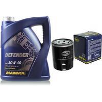 Ölwechsel Set 5 Liter MANNOL Defender 10W-40 + SCT Ölfilter Service 10164117