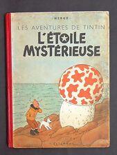Hergé. Tintin L'Etoile Mystérieuse. 1943, 4e plat A20. Titre en page 1.