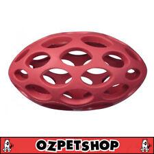 JW Hol-ee Football Rubber Lattice Dog Toy - Medium Chew, Fetch, Tug