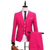 Pink Groomsmen Suit Groom Tuxedos Pink Men Suits As Wedding Suit Best Man Blazer