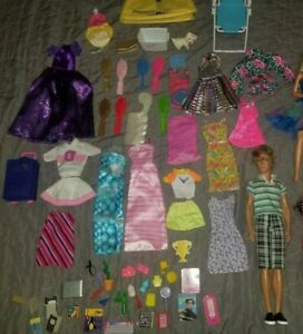 Vintage BARBIE DOLLS, KEN, Dresses and accessories