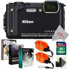 Nikon COOLPIX W300 16MP Digital Camera Black + 8GB Accessory Kit