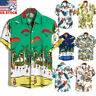 Summer Mens Ethnic Hawaiian Shirt Short Sleeve Tops Beach Holiday Casual Blouse
