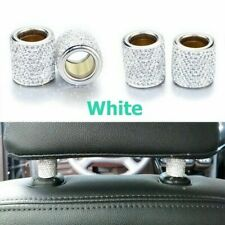 1pc White Crystal Car Seat Headrest Decoration Charms Bling Car Accessories