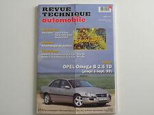 revue technique automobile RTA neuve Opel Omega B 2.5 TD jusqu'à 09 / 1999