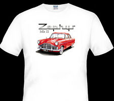 FORD   ZEPHYR  MK2  MKII     QUALITY WHITE TSHIRT  ( 8 CAR COLOURS)   BIG FIT