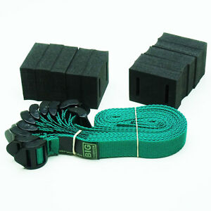 """10-pack of 45cm (18"""") Ladderlock Buckle Tree Ties Support Foam Spacer GREEN"""