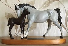 BESWICK HORSE AND FOAL SPIRIT OF AFFECTION DAPPLE GREY & BROWN No.2689/2536