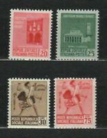 s33559 ITALIA RSI 1944 MNH Monumenti distrutti I^ 4v #496/499