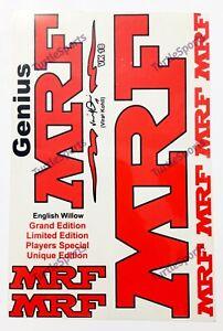 MRF GENIUS VK18 GRAND/LIMITED/PLAYERS/UNIQUE Edition Plain Cricket Bat Sticker