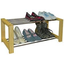 Liso - PINO MACIZO 6 Pares Zapato Organizador de Almacenamiento Estantería -