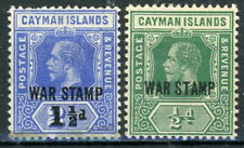 s636442 Cayman Islands- War Tax Sc#MR4, MR5 Hinged With Remnants - Read Descript