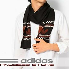 adidas Originals® Mens Knit Pom Scarf Nor Warm Double Layer Winter Trefoil™ Logo
