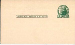 USPS POSTAL CARD 1914 THOMAS JEFFERSON 1 CENT GREEN MINT UNUSED