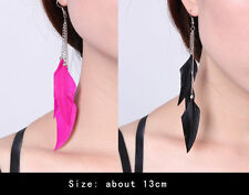 Feather Alloy Costume Earrings without Stone