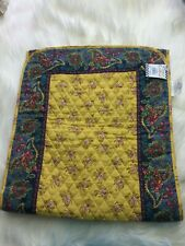 """French Country Table Runner 72"""" NWT Quilted Yellow Blue Red Green 100% cotton"""