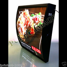 Quality LED Curved Menu Box Illuminated Board Sign Restaurant Take away 600mm