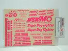 Vintage Yokomo ZC-D4P 4wd Super Dog Fighter Pink Decal Set YZ10 RC10 Buggy Parts