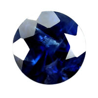 Certified Natural 5.8mm Round Blue Sapphire 0.88ct SI Clarity Madagascar Gem