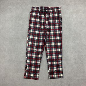 Nautica Men's Sleepwear Large Pajama Pants Plaid L Red White Soft Comfort