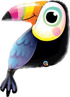 "Colourful Toucan 41"" Supershape Foil Balloon Hawaiian/Tropical Animal Decoration"
