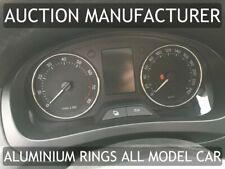 Skoda Praktik 2006-2015 Polished Aluminium Gauge Rings Chrome Trim Surrounds x2